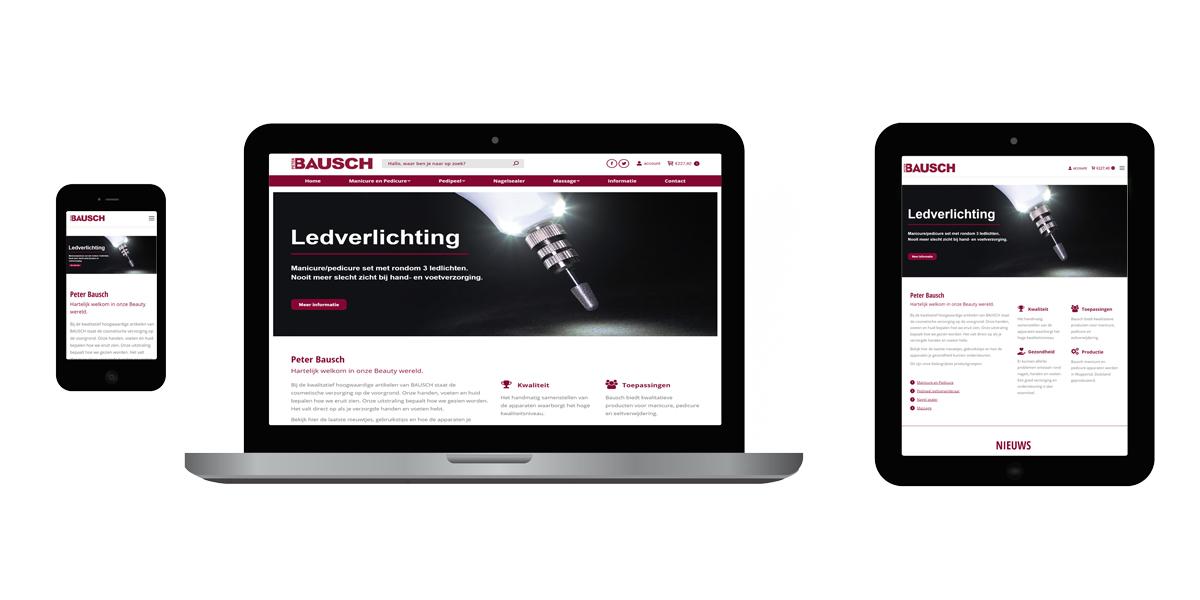 Nieuwe website responsive